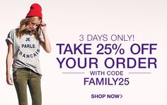 Shopbop – 25% Off Full-Price & Sale Items October 14 - 16, 2014