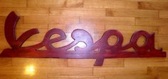 Giant Vespa Scooter Parts Wood Sign Vintage Rustic Style Home Decor Man Cave