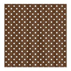 Brown with White Dots Shower Curtain > White Dots > MarloDee Designs Shower Curtains