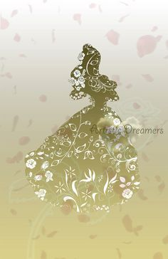 Princess Belle Silhouette by ArtisticDreamers on Etsy, $10.00