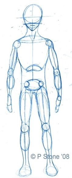 How to Draw a Basic Manga Character That You Can Use in Hundreds of Poses: Drawing the Manga Character's Outline