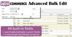 WooCommerce Advanced Bulk Edit V3.5 - http://nulledtemplates.net/scripts/woocommerce-advanced-bulk-edit-v3-5.html  With WooCommerce Advanced Bulk Edit V3.5 easily edit your products and variations individually or in bulk. WooCommerce Advanced Bulk Edit V3.5 Features:  Filter products by title, category, attributes, regular and sale price, sku, tags, long and short descriptions. Append, prepend and replace text in title (bulk). Increase/decrease by value/percent (bulk). Genera