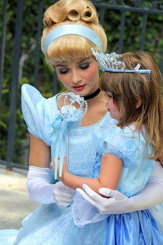 Little Girls With Disney Princesses