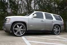 custom chevy tahoe - Wouldn't do the two tone though. Just one solid color!