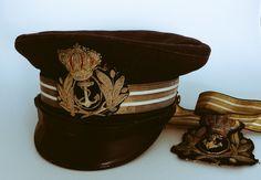 Gorra de plato de oficial de la Armada del cuerpo de Intendencia. 1898.