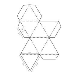 octahedron design | Octahedron Templates To Print 3D Geometric Diamond Shapes Templates ...