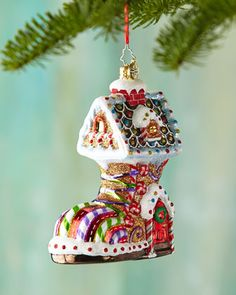 Sugar Foot Christmas Ornament by Christopher Radko at Neiman Marcus.