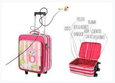 Maletas sorprendentes para ir de vacaciones con nuestros peques.http://www.itzyritzystore.com/store/categories/adventure-happens-rolling-suitcase-for-children.htm