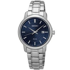 Seiko Watches Womens Neo Classic Stainless Steel Watch (Blue) *** Be sure to check out this awesome product.