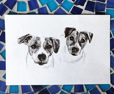 Atty + Winnie // #petportraits Puppy Chow, Pet Portraits, Moose Art, Puppies, Pretty, Painting, Animals, Instagram, Cubs