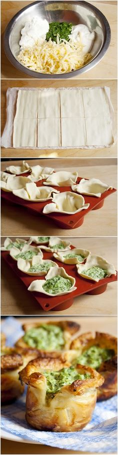 Pics Hut: Puff Pastry Spinach Cups