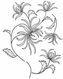 AMARNA IMAGENS: RISCOS PARA BORDADOS E OUTROS TRABALHOS MANUAIS Blackwork Embroidery, Hand Embroidery Patterns, Ribbon Embroidery, Embroidery Art, Machine Embroidery, Flower Art Drawing, Flower Line Drawings, Thread Painting, Fabric Painting