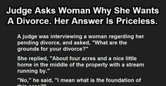 Judge Asks Woman Why She Wants A Divorce. Her Answer Is Priceless.