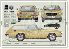 Volvo P1800ES 1972-73 classic car portrait print