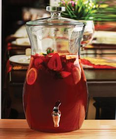 Look what I found on #zulily! Curve Glass 2.73-Gal. Beverage Dispenser by Circle Glass #zulilyfinds
