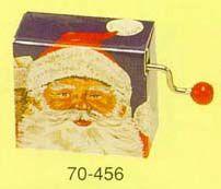 I like this Santa hurdy Gurdy Handcrank music box!