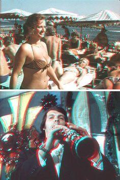 Анаглифические кадры документального стереофильма «Здравствуй, Сочи!» (1977)  Советское стереокино  Подробнее в источнике: http://sneg5.com/obshchestvo/kultura-i-iskusstvo/3d-kino-v-sssr.html