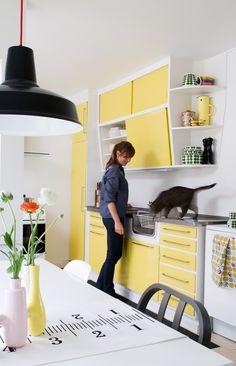 Beautiful yellow kitchen
