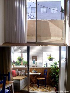 planos low cost: Balcones: antes y después.