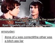 Panic!AtTheDisco Ryan Ross and Brendon Urie