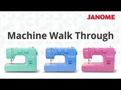 The Janome 234 is a quality entry level model offered at a fantastic price! This mechanical machine features 12 built-in stitches and a four-step buttonhole. Threading Machine, Entry Level, Janome, Make It Yourself, Learning, Sewing, How To Make, Cutting Board, Stitches