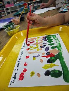 five senses: smell preschool art project painting with spices