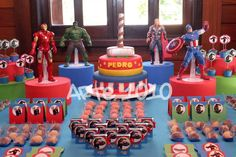 Mesa de Aniversário Festa Infantil dos Vingadores