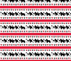 newf_hearts_and_paw_prints wallpaper or fabric  by dogdaze_ on Spoonflower - custom fabric