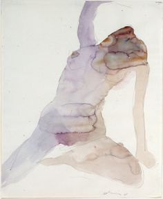 Nathan Oliveira/Figure #3/Watercolor on paper/17 x...
