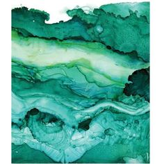 Undercurrent Emerald Ink Art Print, Ocean Art, Surf Watercolor,... ❤ liked on Polyvore featuring home, home decor, wall art, ocean wall art, sea painting, ocean paintings, ink painting and surf paintings