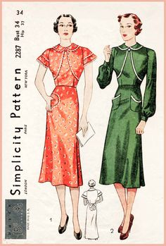1930s 30s abito redingote o grembiule vescovo wrap di vintage Sewing Pattern maniche busto 34 b34 riproduzione di LadyMarloweStudios su Etsy https://www.etsy.com/it/listing/285776313/1930s-30s-abito-redingote-o-grembiule