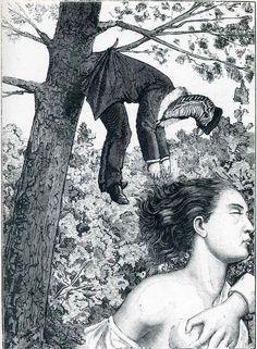 "Max Ernst, Illustration to ""A week of kindness"", 1934."