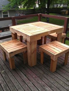 pallet projects | Pallets... Table & chairs | projects with pallets
