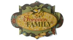 Forever Family Scrapbook Embellishment paper piecing by itsmemanon, $2.00
