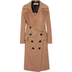 Burberry Crewdale camel hair and wool-blend coat (9,575 SAR) ❤ liked on Polyvore featuring outerwear, coats, oversized camel coat, camel trench coat, burberry trenchcoat, oversized coat and double breasted coat
