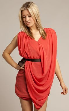 Affordable Short V-neck Sleeveless Chiffon Column Party Dresses - Semi-Formal Dresses - Wedding Dresses