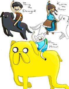 Percy,Korra,and Finn