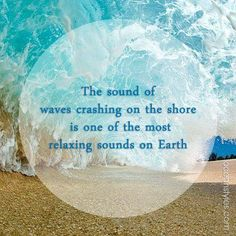 Most relaxing sound on earth! To fall asleep listing to ocean waves is heaven on earth. Ocean Quotes, Beach Quotes, Beach Sayings, Summer Quotes, Sunset Beach, Ocean Beach, Beach Bum, Beach Waves, Ocean Waves