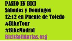 Paseos en Bici con Bicis Solidarias u otros colectivos: Mercados, Puentes, Centros Sociales, El rió Manzanares, Huertos Urbanos | Bicis Solidarias
