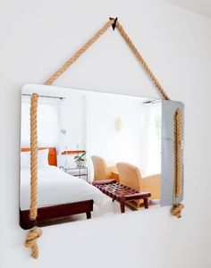 Cool Rope mirror! DIY?