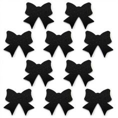 Pegatinas Lazos Negros para decorar.  Blíster de 10 stickers.