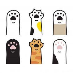 Cute Easy Drawings, Cute Kawaii Drawings, Cute Animal Drawings, Caricature, Doodles Bonitos, Cat Footprint, Cute Doodles, Kawaii Doodles, Simple Doodles