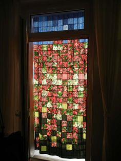 Scrap-Quilt - curtain