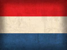 Netherlands Flag Art - Netherlands Flag Vintage Distressed Finish by Design Turnpike