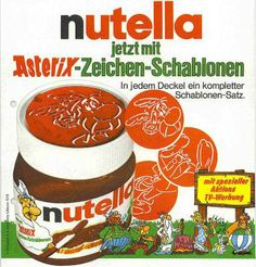 Lang, lang ist's her: nutella Asterix Zeichenschablonen Repinned by www.gorara.com