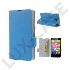 Bellman (Blå) Nokia Lumia 630 / 635 Äkta Läder Flip Fodral