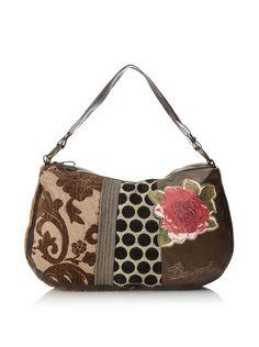 DIY Inspiration: Desigual Women's Patterned Shoulder Bag, Tabaco