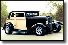 32 Ford Vicky... love the woodies!