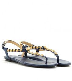 Ancient Greek Sandals studded T-bar Estia sandals - Black farfetch bianco Pelle Espacio Libre En Línea Barata 100% Garantizado Costo De Salida qAtJd