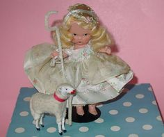 Nancy-Ann-Storybook-Doll Little-Bo-Peep with an added lamb.